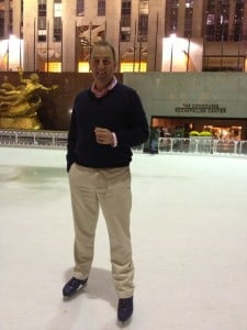 Rami Baron Has the ice rink all to himself in New York