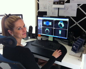 Danielle Rose at her CAD station