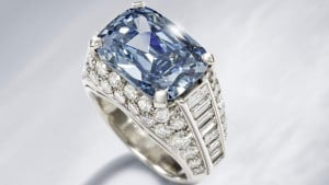 The Bulgari blue diamond ring circa 1965 sold for 5 times estimated value