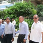 Anoop Mehta, Ernest Blom, Rami Baron at the World Diamond Congress