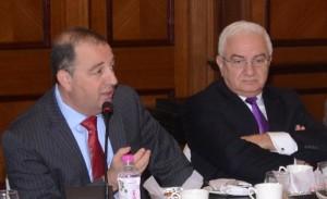 Rami Baron and Alex Popov at WFDB executive meeting