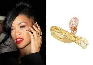 "Rihanna wears ""Shooting Star"" diamond ring designed by Raphael Jewellers"